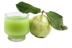 Guava juice and fresh Guava Royalty Free Stock Photography
