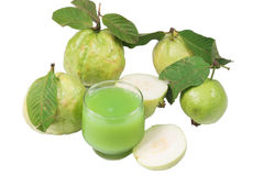 Guava juice and fresh Guava Royalty Free Stock Photos