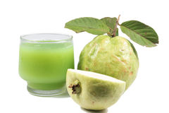 Guava juice and fresh Guava Stock Photography
