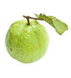 Guava with leaf Royalty Free Stock Photos
