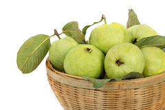 Guava with leaf (tropical fruit) Stock Photo
