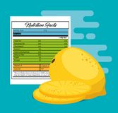 Guava with nutrition facts. Vector illustration design Royalty Free Stock Images