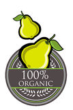 Guava Organic label Stock Image
