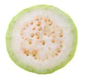 Guava plasterek na białym tle Fotografia Royalty Free