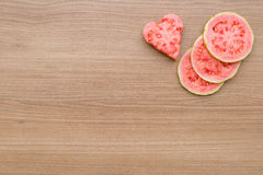 Guava, refreshing red fruit for juice Stock Image