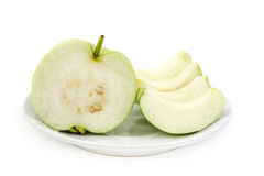 Guava with seed Royalty Free Stock Photo
