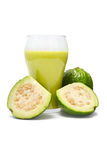Guava smoothie drink. Glass of healthy fruit smoothie drink stock image