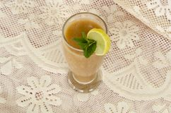 Guava Smoothie Top View royalty free stock photography