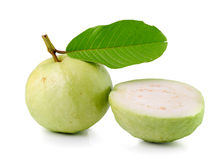 Guava (tropical fruit) on white background Royalty Free Stock Photos