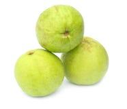 Guava on white background Royalty Free Stock Photos