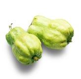 Guavafrukt som isoleras på vit bakgrund Arkivbilder