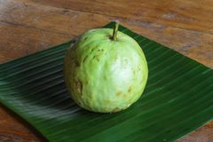 Guavas fruit. Fresh  on wooden table Stock Photography