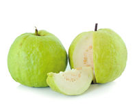 Guavas on white background Royalty Free Stock Image