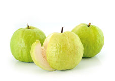 Guavas on white background Stock Photos