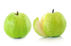 Guavas on white background Stock Image