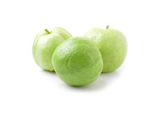 Guavas  on white background Stock Images