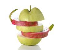 Guave, Fruchtdrache auf weißem Hintergrund Stockbilder