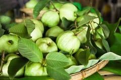 Guave im Korb Lizenzfreie Stockfotos