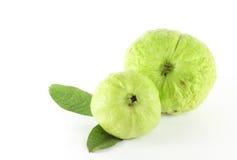 Guave mit Blatt Stockbild