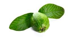Guave und Blätter Stockfotografie