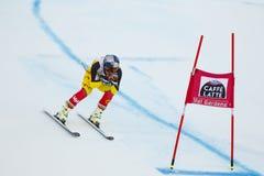 GUAY Erik in FIS Alpien Ski World Cup - super-g van 3de MENSEN Royalty-vrije Stock Afbeelding