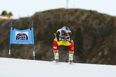 GUAY Erik i FIS alpina Ski World Cup - 3rd MÄNS SUPER-G Arkivfoton