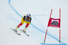 GUAY Erik i FIS alpina Ski World Cup - 3rd MÄNS SUPER-G Royaltyfri Bild