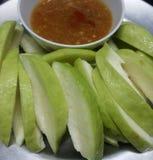 Guayaba y salsa de inmersión Fotografía de archivo