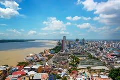 Guayaquil, εικονική παράσταση πόλης του Ισημερινού Στοκ Εικόνες