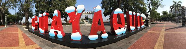 Guayaquil Christmas letters Stock Photos