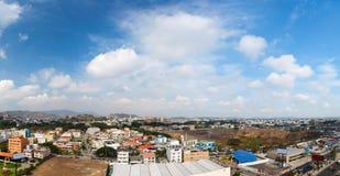 Guayaquil city panorama. Panoramic photo of Guayaquil city in Ecuador, South America stock photos
