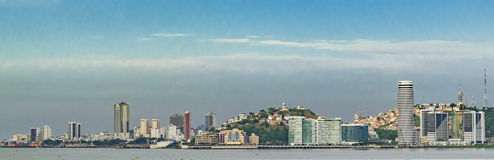 Guayaquil Cityscape Skiline, Ecuador. Guayaquil modern cityscape waterfront skiline buildings view royalty free stock image