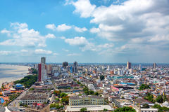 Guayaquil Cityscape. Cityscape view of Guayaquil, Ecuador Stock Photo