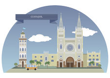 Guayaquil, Equador ilustração royalty free