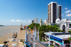 Guayaquil Malecon View. View of the Malecon and the Guayas River in Guayaquil, Ecuador Royalty Free Stock Photo