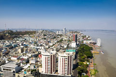 Guayaquil miasta widok od above Fotografia Stock