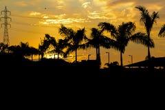 Guayaquil obrzeża zmierzchu scena Fotografia Royalty Free