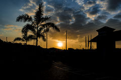 Guayaquil obrzeża zmierzchu scena Fotografia Stock