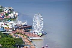 Guayaquil stadssikt från över Fotografering för Bildbyråer