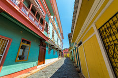 Guayaquil Street View. Street view in historic Las Penas neighborhood in Guayaquil, Ecuador Royalty Free Stock Images