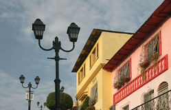 Guayaquil urban scene. Street lamp in a picturesque town. Guayaquil. Ecuador stock photography