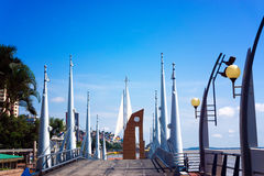 Guayaquil Waterfront View. View of the malecon on the waterfront in Guayaquil, Ecuador Stock Images