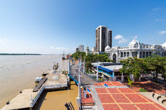 Guayaquil Waterfront Wide Angle Royalty Free Stock Photography