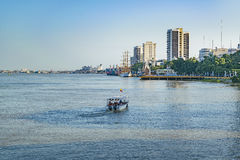 Guayas River and Malecon, Guayaquil, Ecuador. Guayas river and malecon typical view at Guayaquil, Ecuador Stock Photography