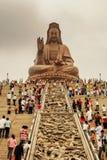 Guayin雕象,登上西樵,位于南海Dis 免版税库存照片