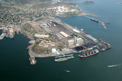 Guaymas deep seaport royalty free stock image