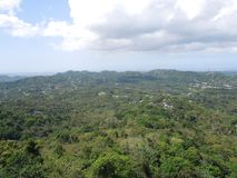 Guaynabo view in Puerto Rico. A view from a tower over Guaynabo in Puerto Rico Stock Photography