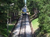 Gubalowka小山缆索铁路在扎科帕内在波兰 库存照片
