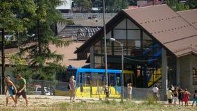Gubalowka小山缆索铁路在扎科帕内在波兰 库存图片
