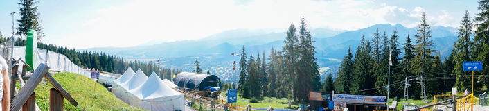 Gubalowka - vista no panorama de Tatras Fotos de Stock Royalty Free